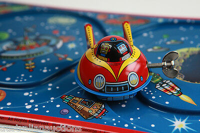 Tin Toy Space Rocket Express Original  With Track Japanese Version