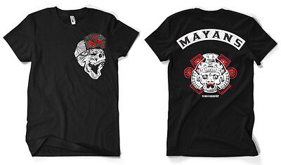 Los Mayans MC Sons Of Anarchy Front Back Patch Print Biker Männer Men T-Shirt