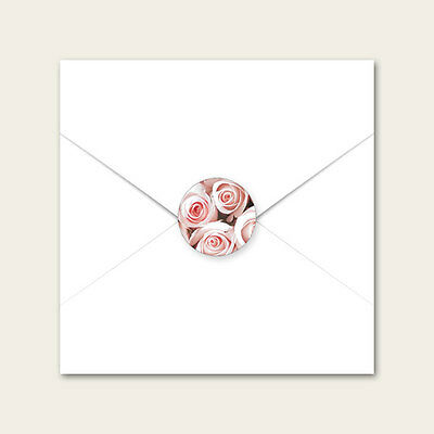 Pink English Rose - Wedding Envelope Seals - Pack of 70