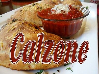 "CALZONE 24""x18"" LARGE HANGING COUNTER WALL FOOD SIGNS"