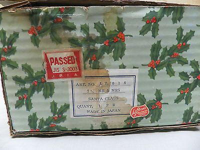 Vintage Original Box For Mr and Mrs Santa 7 1/2 in.