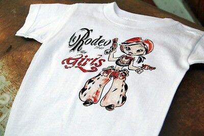 Rodeo for Girls Vintage 1946  Western T-Shirt Toddler Size NEW