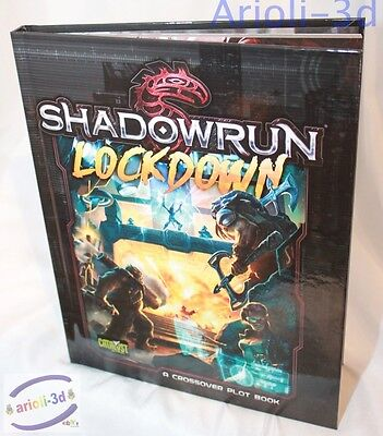 Shadowrun RPG: Lockdown Hardcover Cross Plot Book PSI CAT27300 by Catalyst NEW