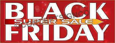 3'x8' BLACK FRIDAY SUPER SALE BANNER Outdoor Sign LARGE Store Sales Thanksgiving