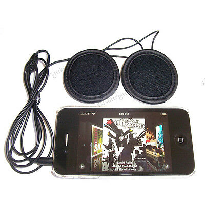 Motorcycle In-helmet Stereo Speaker Headphone Earphone 3.5mm plug Volume Control