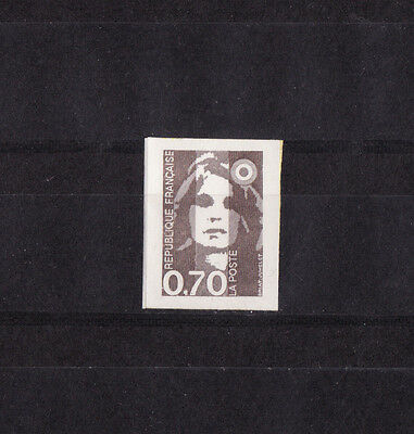 timbre France   Marianne  0,70 brun autocollant  2824  **