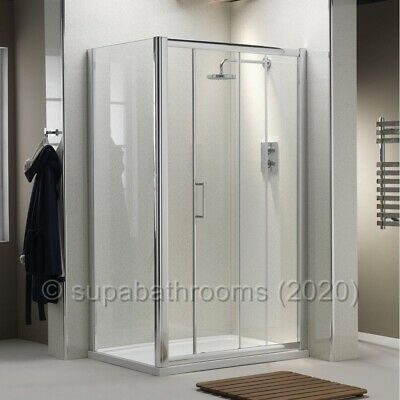 Quality Sliding Shower Enclosure Door Cubicle Side Panel Stone Tray Free Waste