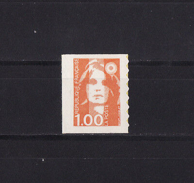timbre France    Marianne  1f orange  autocollant    3009 **