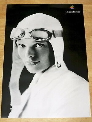 APPLE THINK DIFFERENT POSTER - AMELIA EARHART / 24 x 36 by STEVE JOBS 61 x 91 CM