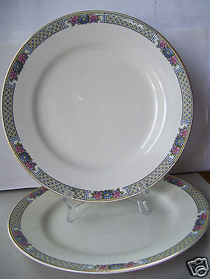 "Antique Lot 2 Rare J. & G. Meakin Sol Parkstone 9"" Dinner Plates Made In England"
