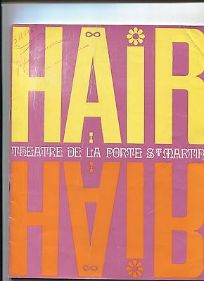 N°7570 / programme officiel de la comédie spectacle HAIR   1969