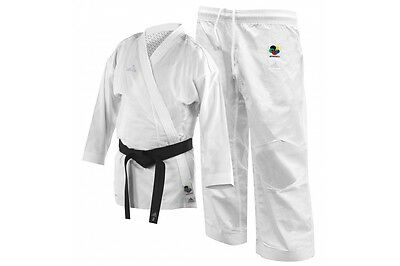 Adidas Kumite Fighter Karate Gi Suit WKF Approved White K220KF Adult Uniform