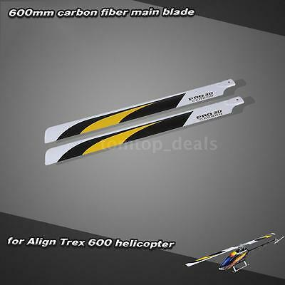 Carbon Fiber 600mm Main Blades for Align Trex 600 RC Helicopter Durable RT08