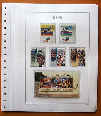 Israel 2007 Complete Year Set With Tabs 8 Kabe Leaves - All Stamps Mint Unhinged