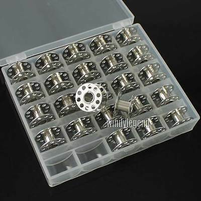 25Pcs Sewing Machine Bobbins Spools Metal Bobbin For Brother Janome Singer New