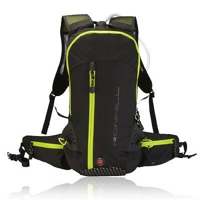 Ronhill Vizion Mens Womens Black 20 Litre Water Resistant Running Backpack