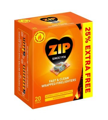 Fast & Clean Wrapped Firelighters Pack 16 Plus 25% Free