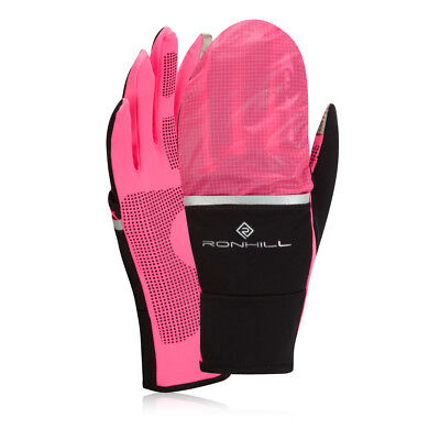 Ronhill Switch Womens Pink Black Thermalite Warm Running Training Sports Gloves