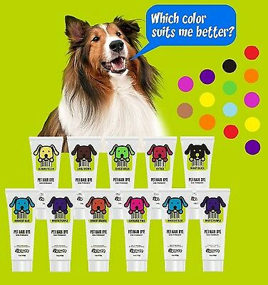 PET DOG HAIR DYE GEL Semi-permanent, completely non-toxic and safe, 4oz