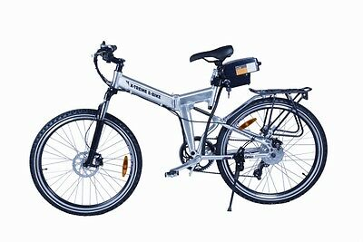 Silver Foldable Electric Mountain Bike Bicycle Ebike Folding Lithium 300W 24V