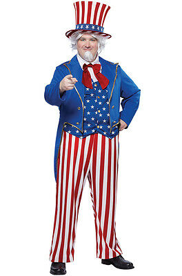 Uncle Sam USA Patriotic Plus Size Adult Costume