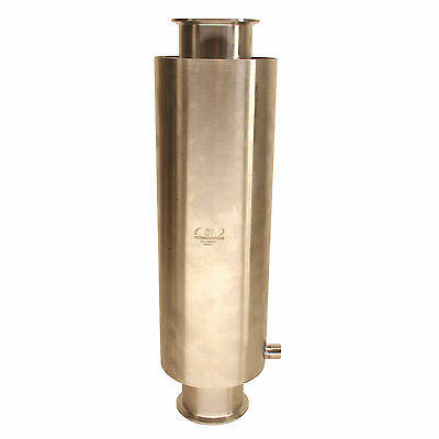 """HFS 4"""" x 18"""" Stainless Sanitary Dewax Chamber fits Tri-Clamp Ferrule Flange"""