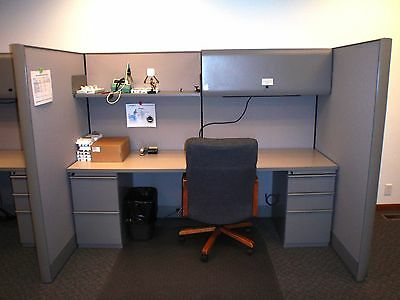 Knoll Cubicles: 2 corners and 3 wall units PEWTER