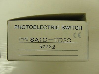 New Idec Photo Electric Sensor, Through Beam, SA1C-TD3C