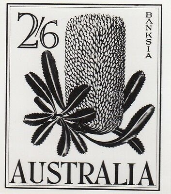 Stamp Australia 1960 Banksia 2/5 in unissued 2/6 value official photograph proof