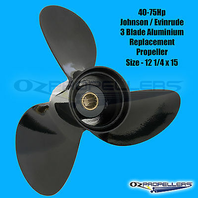 JOHNSON EVINRUDE PROP PROPELLER 40 48 50 55 60 75HP Size- 12 1/4 x 15 (778774)