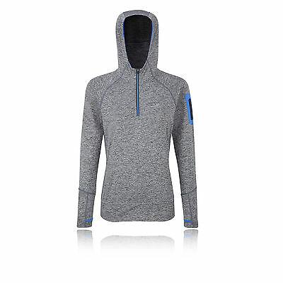 Ronhill Aspiration Victory Womens Grey Long Sleeve Half Zip Running Hoodie Top