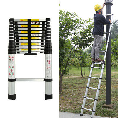 3.8m New Multi-Purpose Aluminium Telescopic Ladder Extension Extendable Steps +