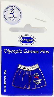 Blue Trunks Sydney Olympic Games 2000 Pin Badge Collect #639