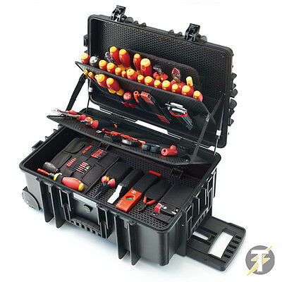 NEW Wiha 9300-703 (40524) 115pc Deluxe Rolling Tool Case for Electricians