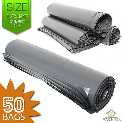 """50 STRONG Post Mailing BAGS Self Seal Poly Plastic Packet Postage Grey 17"""" x 24"""""""