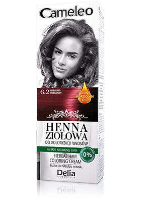 Delia Cosmetics Cameleo Herbal Hair Coloring Cream Natural Henna 0% Ammonia