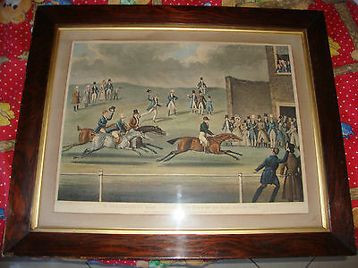 Antique Horse Racing 1852 English James Pollard Original