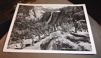 """5"""" by 7"""" US GOVERNMENT PHOTO OF SOLDIERS AT YOSEMITE NATIONAL PARK FALLS"""