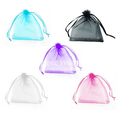 "New 3""x4"" Lot of 100 Organza Wedding Party Favor Gift Jewelry Candy Bags Pouches"