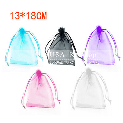 "New 5""x7"" 100pcs Organza Decor Gift Candy Jewelry Pouch Wedding Party Favor Bags"