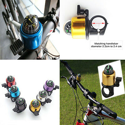 6Colors Choose Metal Ring Handlebar Bell Sound For Bike Bicycle With The Compas