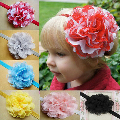 Cute Baby Toddler Infant Lace Flower Headband Hair Bow Headwear Accessories