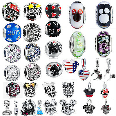 Silver charms Collection Disney Bead Fit European 925 Sterling silver Bracelet K