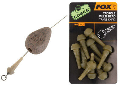 Fox Edges Tadpole Multi Bead Khaki | 10 Stk.