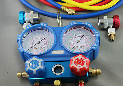 "R410a R134A AIR CONDITIONING REFRIGERATION MANIFOLD GAUGE WITH 60"" HOSE LONG"