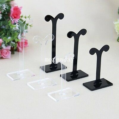 Set of 3 Acrylic Earrings Display Stand Jewelry Organizer Holder Rack Showcase