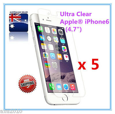 Free Post 5x Ultra Clear Screen Protector For Apple® iPhone 6/6S/8/8S OZ stock 7