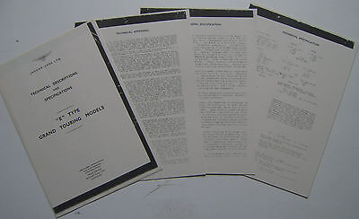 Jaguar E-Type 3.8 Series 1 1961 Technical Specifications for the Press PHOTOCOPY