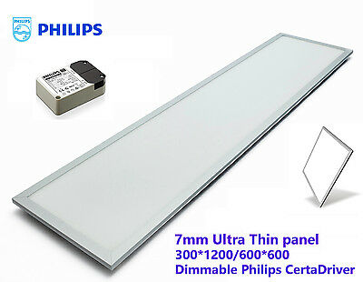 New 40W LED Office T Bar Panel light Troffer Philips Driver 30 60 120 cm 3800lm