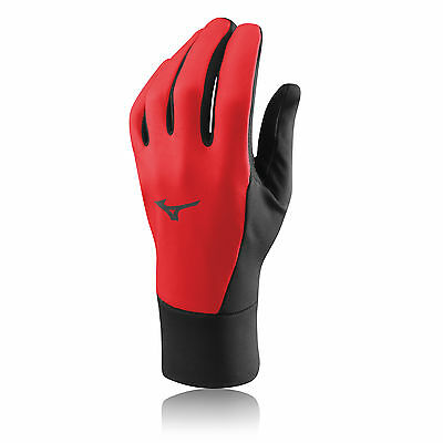 Mizuno Warmalite Mens Womens Red Breathable Windproof Warm Running Gloves New